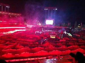 激しいレースになったスタジアム。